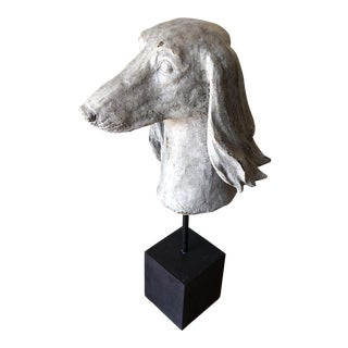 Vintage Mounted Dog Bust