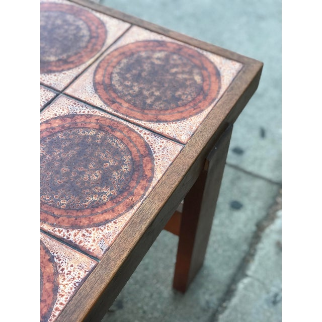 Danish Mid Century Tile-Top Coffee Table For Sale - Image 9 of 13