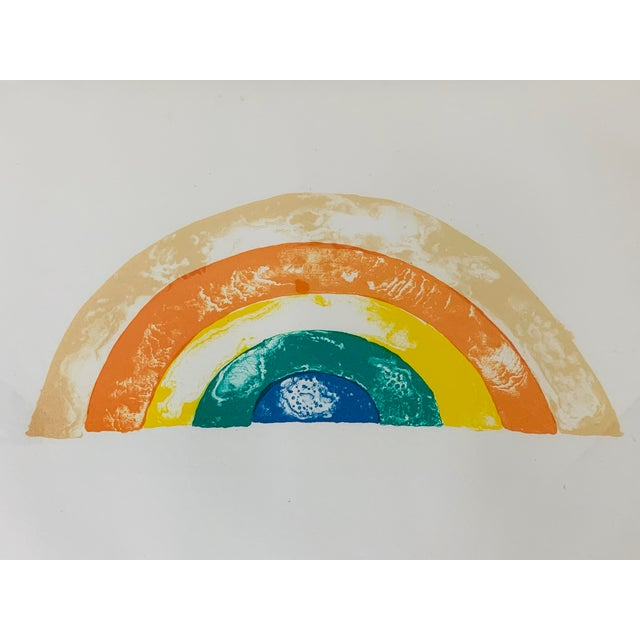 """""""Rainbow"""" Jim Dine Signed Limited Edition Lithograph, 1972 For Sale In Washington DC - Image 6 of 13"""