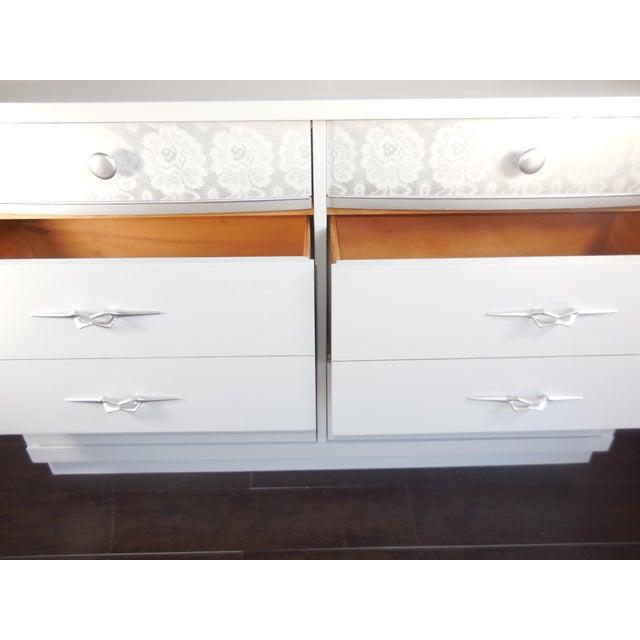 White Mid-Century Modern Dresser - Image 2 of 8