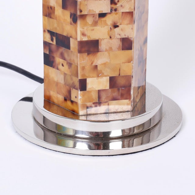 Mid 20th Century Horn Veneer Table Lamps - A Pair For Sale - Image 5 of 6