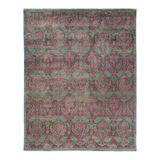 Suzani Hand-Knotted Floral Wool Rug - 8′10″ × 11′1″