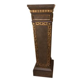Gold Accented Indoor Pedestal