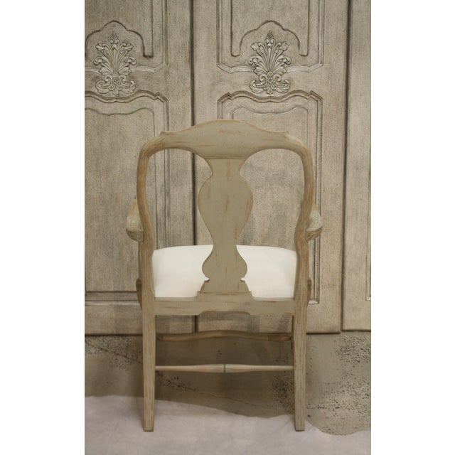 Swedish Rococo Host End Dining or Desk Chair. Can also be used as an occasional chair. Entirely hand carved. Hand crafted...
