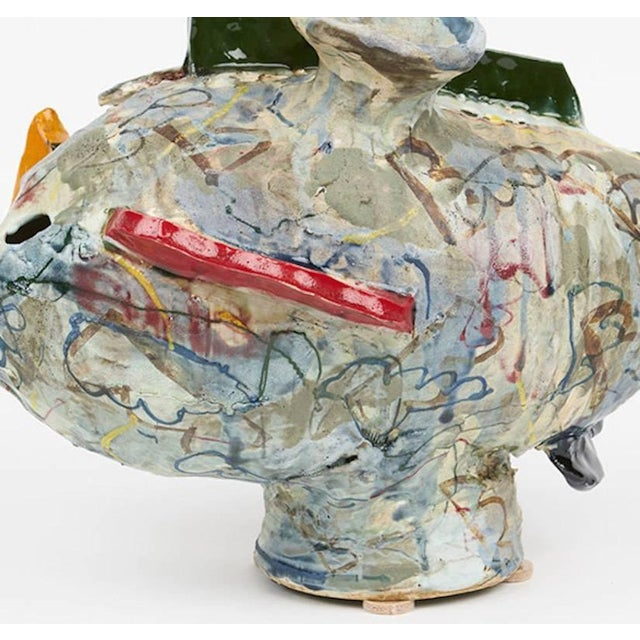 Abstract Abstract Ceramic Translated Vase by Korean-American David T. Kim For Sale - Image 3 of 4
