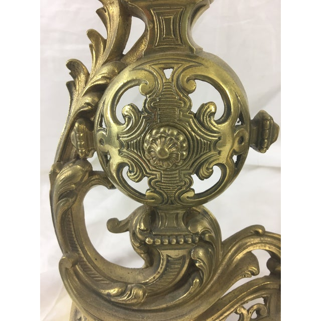 Bronze 19th Century French Napoleon III Bronze Andirons - a Pair For Sale - Image 8 of 10