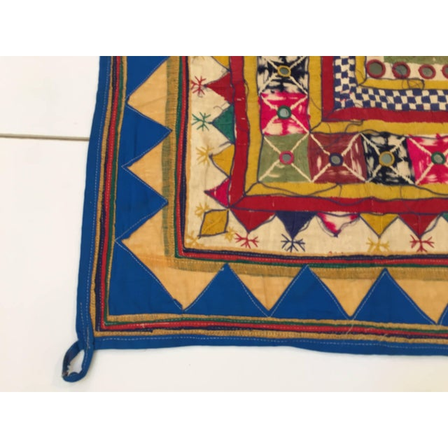 Early 20th Century Late 19th Century Embroidered Ceremonial Chakla Cloth Textile For Sale - Image 5 of 11