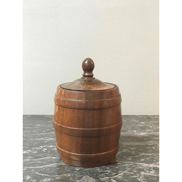 Wooden Tobacco Jar From 1920s Belgium For Sale In Los Angeles - Image 6 of 7