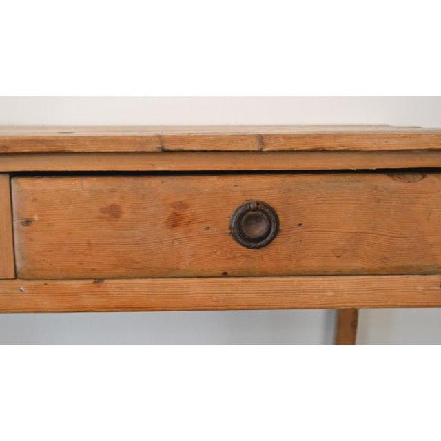Antique French Farmhouse Pine Desk - Image 5 of 8
