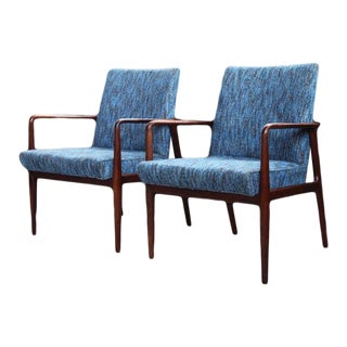 Mid Century George Reinoehl Executive Lounge Chairs - a Pair For Sale