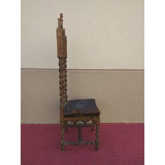 Period Renaissance 16th Century Gothic High Back Chair For Sale - Image 4 of 12