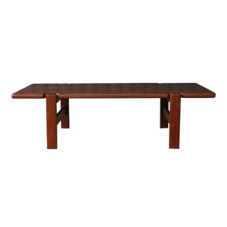 Danish Modern Solid Teak Coffee Table, Denmark, 1960s For Sale