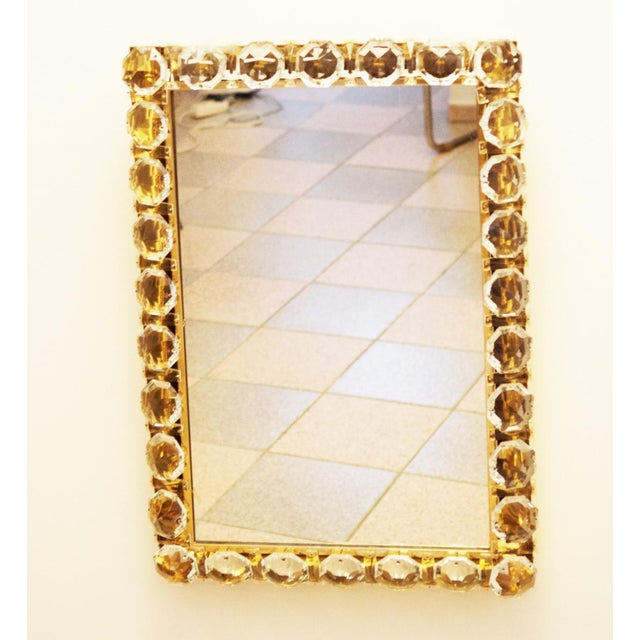 Vintage crystal mirror by Bakalowits & Sohne For Sale - Image 10 of 11
