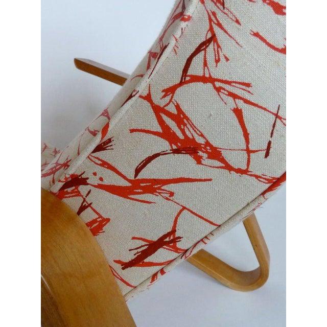 Eero Saarinen Eero Saarinen Grasshopper Chair With Vintage Knoll Fabric For Sale - Image 4 of 4