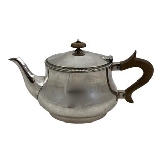 1920s Mappin & Webb Silver Three Cup Bachelor Teapot For Sale