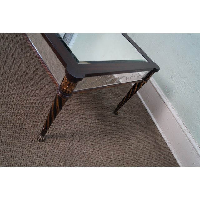 Regency Style Mirror & Gilt Claw Foot Coffee Table - Image 6 of 10