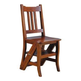 Niagara Furniture Solid Mahogany Library Chair For Sale