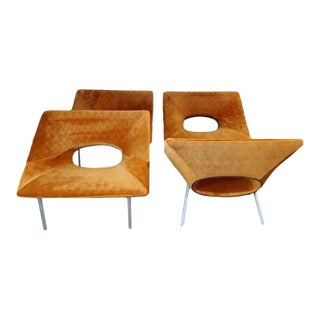 Contemporary Lounge Chairs - Set of 4 For Sale