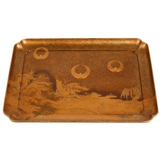 Late 19th Century Rectangular Japanese Lacquer Tray For Sale