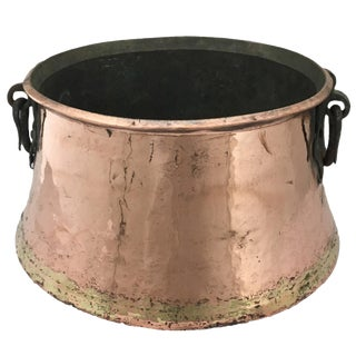 Antique Copper Cauldron | Hand-Hammered Turkish Copper Boiler For Sale
