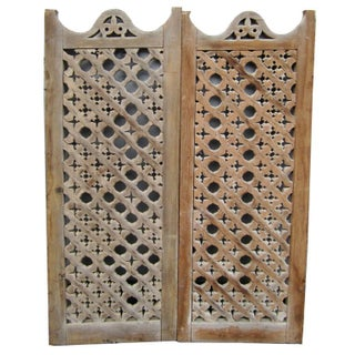 Egyptian Lattice Panels- Set of Five