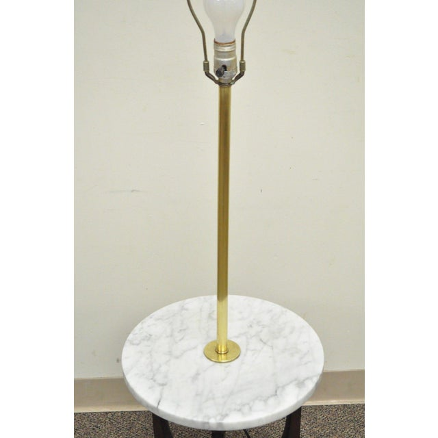 Vintage Mid Century Italian Modern Marble Walnut Brass ...