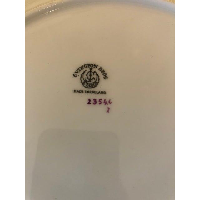 White Vintage English Porcelain Dinner Plates -Set of 12 For Sale - Image 8 of 9
