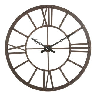 1990s Round Metal Wall Clock For Sale