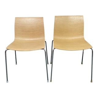 Gordon International Kanvas Bentwood Chairs, a Pair For Sale
