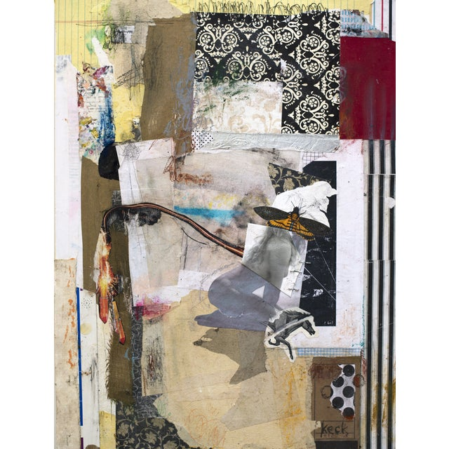 Michel Keck Abstract Mixed Media Collage For Sale