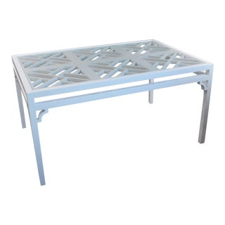 Late 20th Century Vintage Fretwork Table For Sale