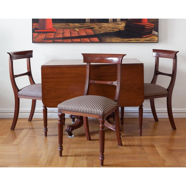 American Federal Drop-Leaf Mahogany Table Set - Image 4 of 7