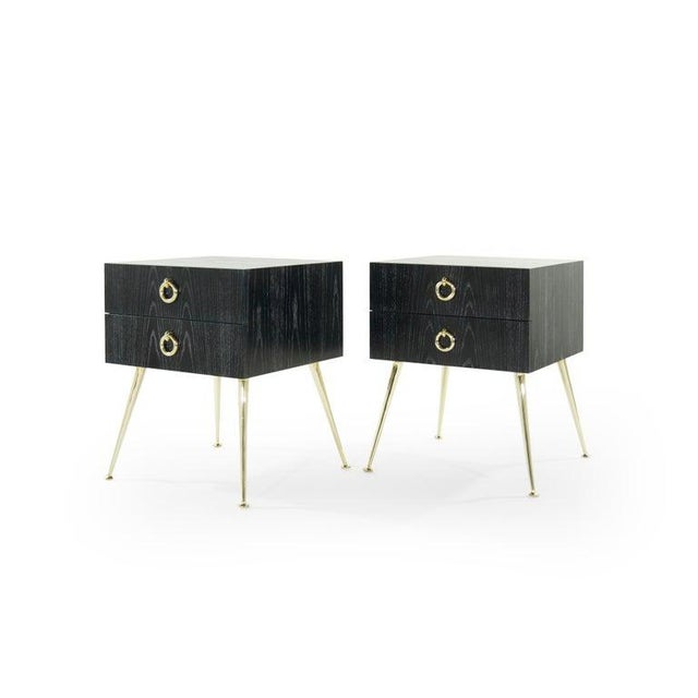 Early 21st Century Gibby Collection End Tables in Limed Oak For Sale - Image 5 of 13