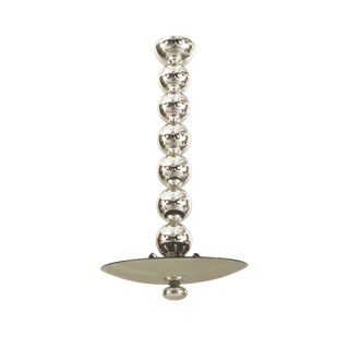 Italian Pendant Chandelier With Silvered Glass For Sale
