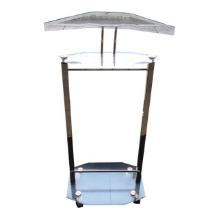 Vintage French Acrylic and Brass Valet Stand, C.1970s For Sale
