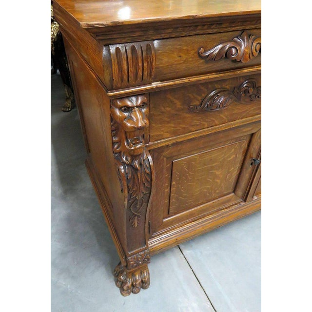 Renaissance Style Sideboard With Superstructure For Sale In Philadelphia - Image 6 of 11