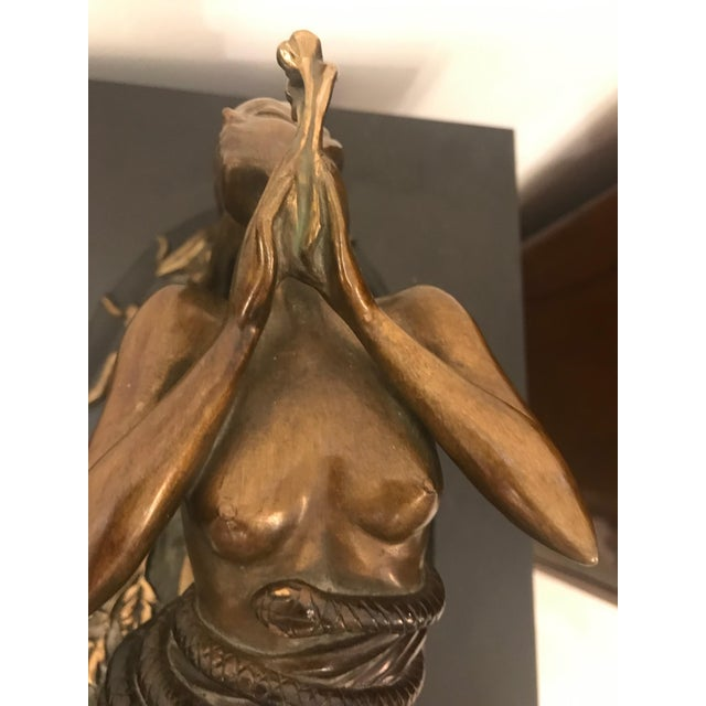 "Black 1984 Erte Ltd Ed ""Perfume"" Bronze Sculpture by Romain De Tirtoff For Sale - Image 8 of 13"