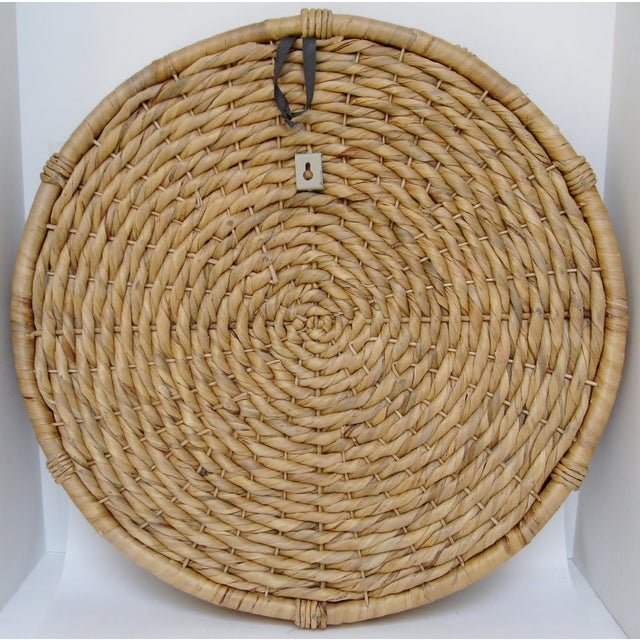 Oversize Woven Grass Hanging Basket For Sale - Image 4 of 4