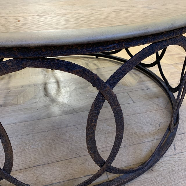 2010s Layla Grace Round Metal Coffee Table For Sale - Image 5 of 8