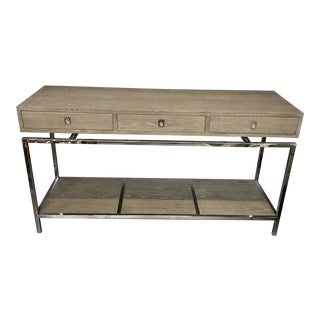 Contemporary Cerused Oak Interlude Home Console Table For Sale