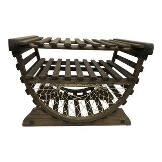 Vintage Crab Trap Side Table
