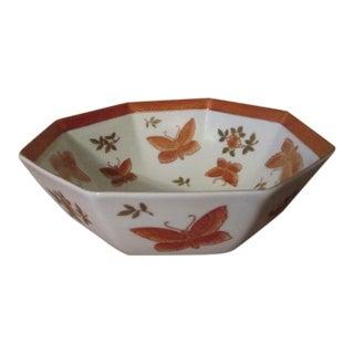 Japanese Floral Octagonal Bowl