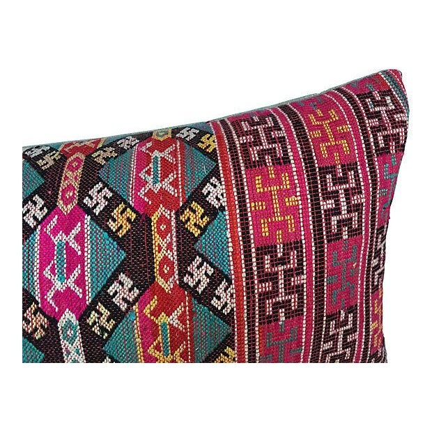 Antique Handwoven Tribal Pillow - Image 4 of 7