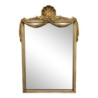 Giltwood Shell Top Mirror For Sale
