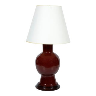 Christopher Spitzmiller Lamp With Wood Base For Sale
