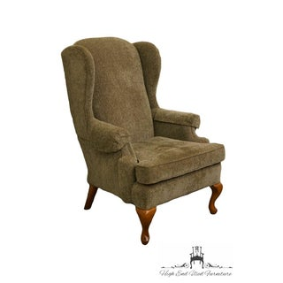 Charles Schneider Queen Anne Rustic Green Wing Back Arm Chair Preview