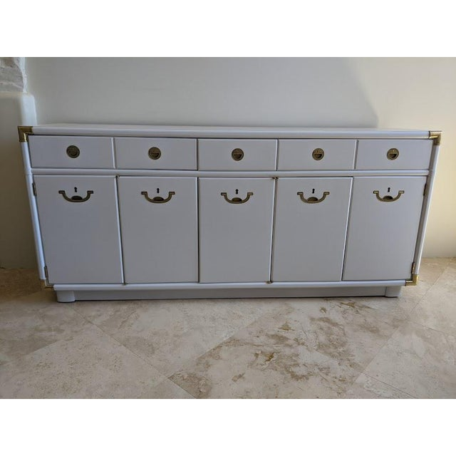 1970s Campaign Drexel Accolade White Credenza For Sale - Image 10 of 11