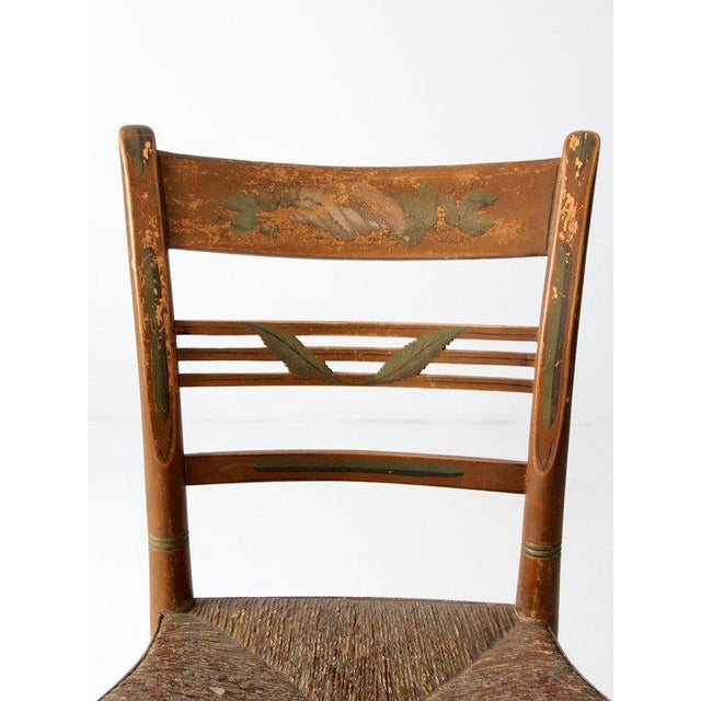 Antique Rush Seat Chair - Image 5 of 6