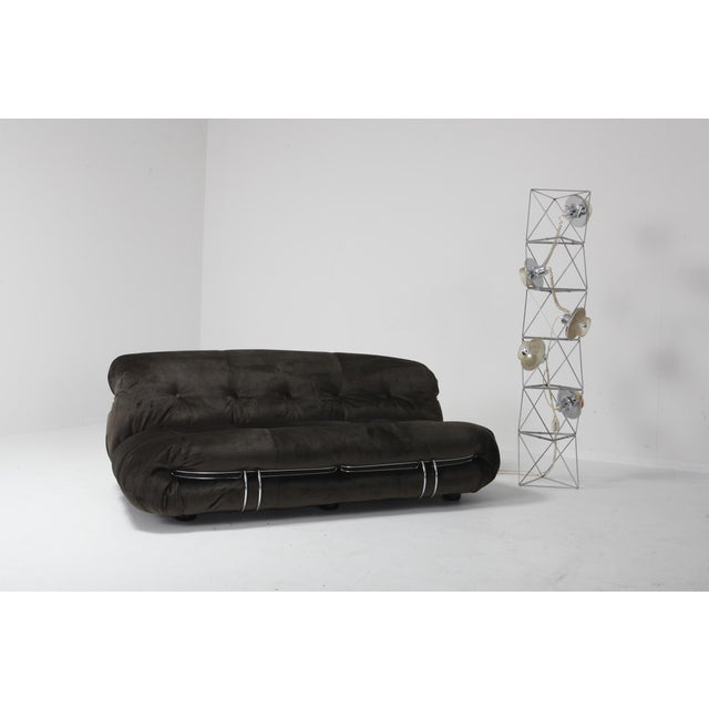 Soriana Two-Seat Sofa by Afra and Tobia Scarpa for Cassina For Sale - Image 11 of 12