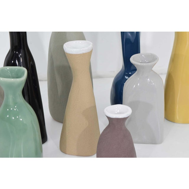 Tan Collection of Vases by Luna Garcia - Set of 11 For Sale - Image 8 of 10